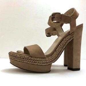 STUART WEITZMAN Platform Suede Sandals Heel Size 8
